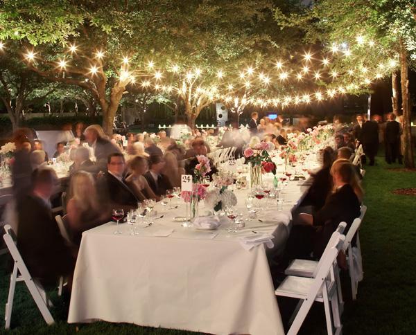Nice Backyard Weddings : outdoor wedding lighting  Honored Occasions Blog